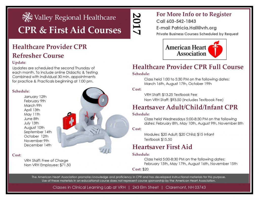 Valley Regional Healthcare CPR & First Aid Courses - Valley Regional  Healthcare